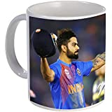 Devron -Cricket Team Captain Virat Kohli After Hitting Century Gift Coffee Tea Mug - Birthday - Couple - Wedding - Valentine's Day Coffee Mugs