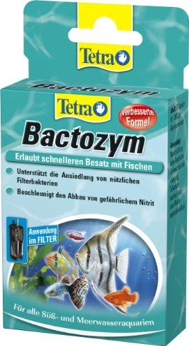 Tetra Bactozym (für sofortige Bioaktivität in Filter und Aquarium, vereinfacht das Einfahren von neuen Becken, fördert Abbau organischer Verunreinigungen), 10 Kapseln -