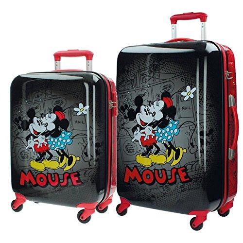 Disney Kofferset Mickey und Minnie Kindergepäck, 86 Liter, Schwarz