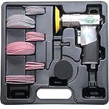 Druckluft-Exzenterschleifer im Kunststoff-Koffer mit Zubehör