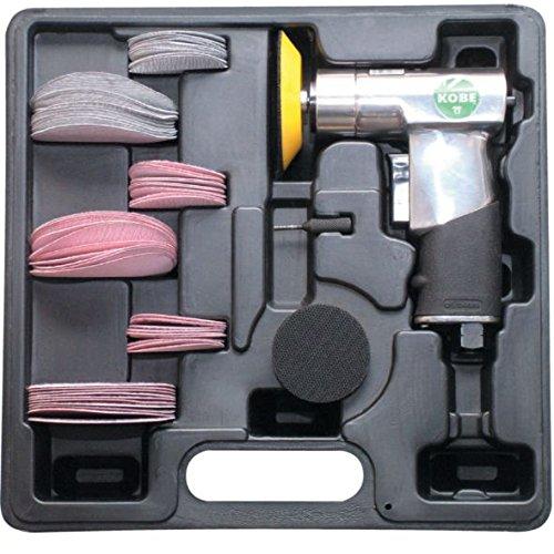 """Druckluft-Exzenterschleifer im Kunststoff-Koffer inkl. Stützteller in 2\"""" und 3\"""""""
