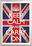 Empire Keep Calm - Poster con bandiera del Regno Unito, accessori inclusi ALU-Rahmen silber