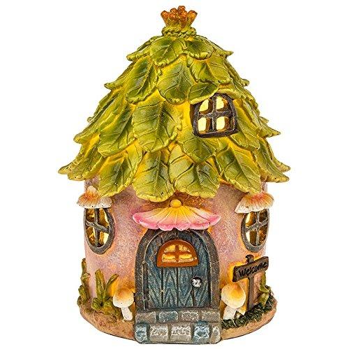 Fairy Glade Green Leaf Haus klein mit LED Licht