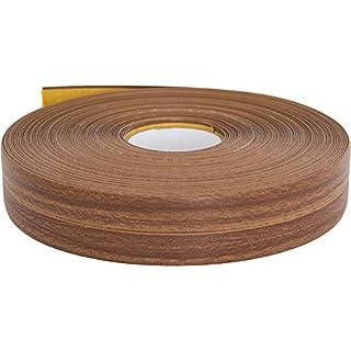 Knickwinkelleiste, PVC, 25m, selbstklebend, verschiedene Farben, Küchenabschlussleiste Winkelprofil Abschlussleiste Knickwinkel (nussbaum)
