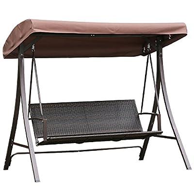 Angel Living 3-Sitzer Hollywoodschaukel Schaukel Polyrattan Metall von Angel Living auf Gartenmöbel von Du und Dein Garten