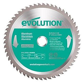 Evolution Power Tools Aluminium Carbide-Tipped Blade, 230 mm