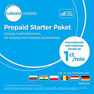 Lebara Prepaid-SIM-Karte mit 10 Euro Startguthaben: Amazon ...