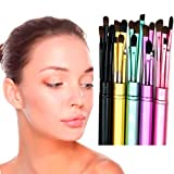 Make-up Pinsel Set❤️❤️Vovotrade 5 Stücke Professionelle Make-Up Augen Lidschatten Pinsel Kosmetik-Set + Rundrohr Eyeliner Gesicht Lippenpinsel Kosmetik Werkzeug (Rosa)
