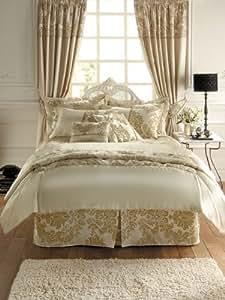 Royal Damask Duvet Cover Set Double Size Bedding Cream
