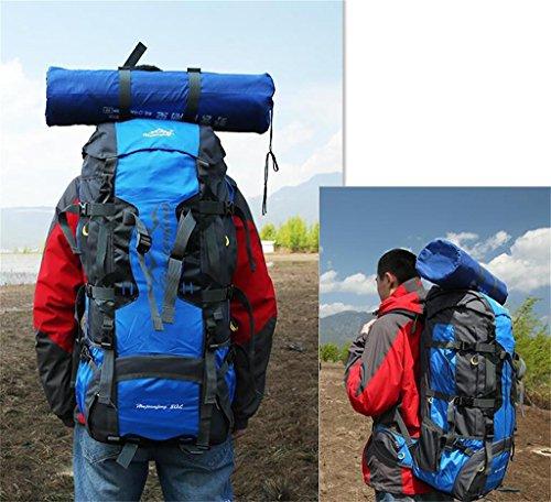 Grandi uomini borsa capacità e donne sacchetti esterni di alpinismo borsa sportiva 80L Trekking Zaino ( Colore : Giallo , dimensioni : 80L ) Blu