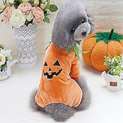Idepet - Ropa para mascotas, disfraz de calabaza de Halloween, abrigo de forro polar, chaqueta para perro, gato, cachorro, chihuahua, fiesta de Halloween, Navidad, Pascua, festival, actividades