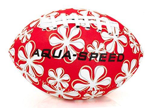 Aqua Speed® Splash Ball   Wasserball   Football   Strandball   Poolball   Wurfball   Neopren   Bunt   Nicht sinkend, Farbe:red - White