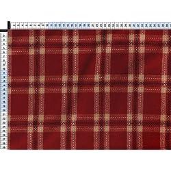 Tela de tapicería, tapicería tela, tapicería tela, cortina, tela - Carol, rojo - clásico tejido con patrón de tela escocesa