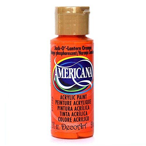 DecoArt Americana Mehrzweck-Acrylfarbe, 59 ml, Jack-O-Lantern Orange Americana-rock
