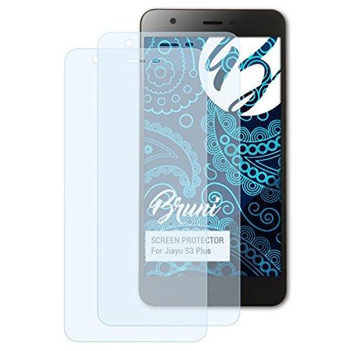Bruni Schutzfolie kompatibel mit Jiayu S3 Plus Folie, glasklare Bildschirmschutzfolie (2X)
