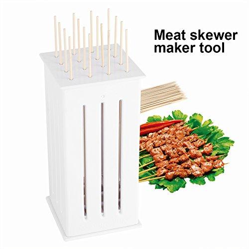 16-Loch Grillbesteck Barbecue Spieß Maker Kebab Schnellgerät Rapid Meat Tools für Barbecue Grill Fleisch Gemüse Spieße (Maker Gemüse)