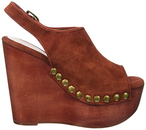 Jeffrey Campbell Snick 2 Suede Scarpe con tacco a punta aperta, Donna Rosso (Rust)