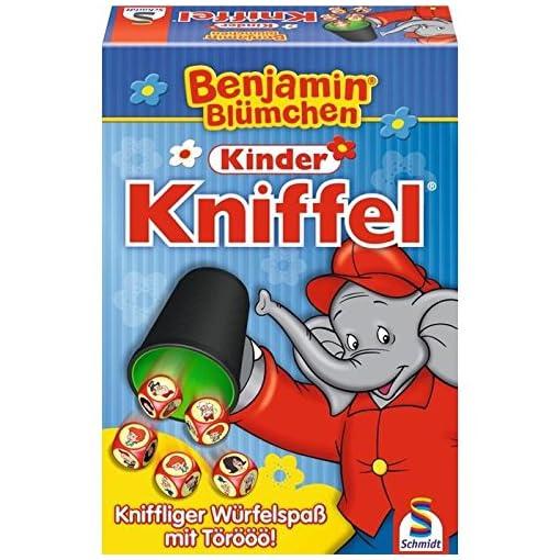 Schmidt-Spiele-40390-Benjamin-Blmchen-Kinder-Kniffel Schmidt Spiele 40390 Benjamin Blümchen 40390-Benjamin, Kinder Kniffel, bunt -