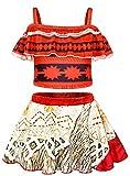 AmzBarley Moana Costumi a Due Pezzi/Interi da Ragazze Bambina Tracolle Costume da Bagno Mare Piscina Nuoto Nuotare Abbigliamento da Spiaggia Tankini Bikini Carnevale Costume