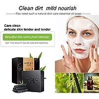 Opfury Organic Bamboo Charcoal Soap Bar - 100 Natural Handmade - Limpiador Facial y Corporal para El Acné, La.