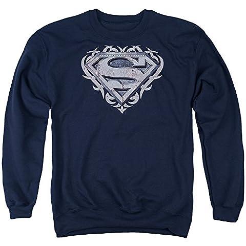 Superman - Mens Tribal Steel Shield Sweater, XXX-Large,