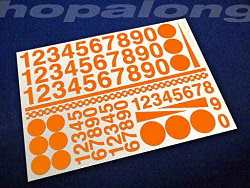 ot Auto-Modell-Spielzeug, 8 Farben, Auto-Dekoration, Vinyl-Aufkleber (orange) ()