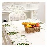 Sixcup  Wegwerf Tischdecken Weihnachten Christmas Tablecloth Weihnachtstischdecke Tischdecke Tischdeckenklammer Rechteckige Bedruckte PVC-Cartoon-Tischdecke 110 x 180cm (White Weiß, 43.3x70.9)