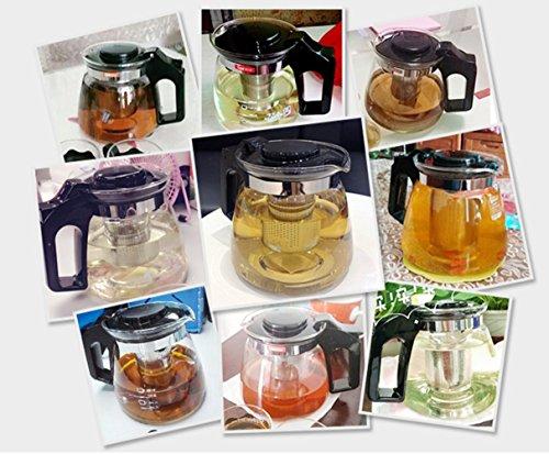 Teekanne Glas Teebereiter 1500 ml mit abnehmbare Edelstahl-Sieb
