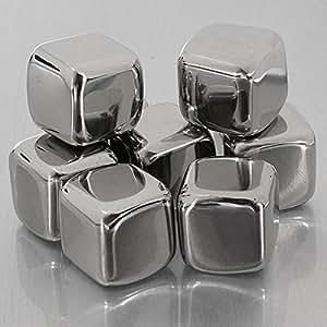 4pcs Edelstahl Whisky Stones Cube Glacier Whiskey Rocks.