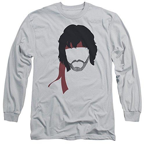 Rambo - II - Herrenhaar Langarm-T-Shirt Silver