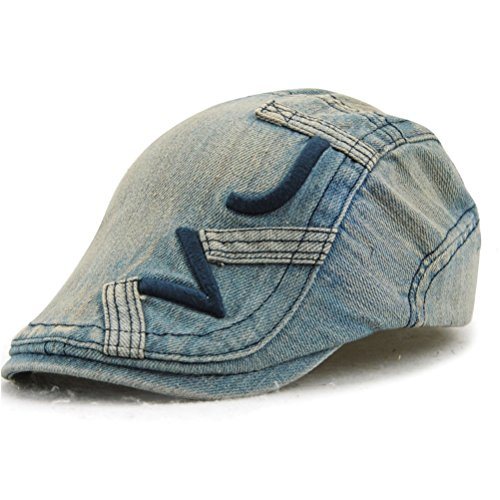 GADIEMENSS Washed Jeans Hat Irish Accessories Fashion Cap Men Camouflage for Men Women Fashion Cap Men Unisex Summer AcrylicIvy Hat Blue Washed Jeans Denim Cotton Newsboy Caps (Roaring 20s Männer)