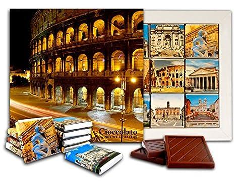 DA CHOCOLAT Candy Souvenir ROME Set cadeau chocolat 13x13cm 1 boîte (Nuit de Colisée Prime)