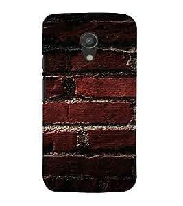 PrintVisa Brick Wall Design 3D Hard Polycarbonate Designer Back Case Cover for Motorola Moto G2