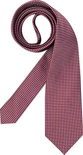 Hugo Boss Herren Krawatte Herren-Accessoire Gemustert, Größe: Onesize, Farbe: Rot
