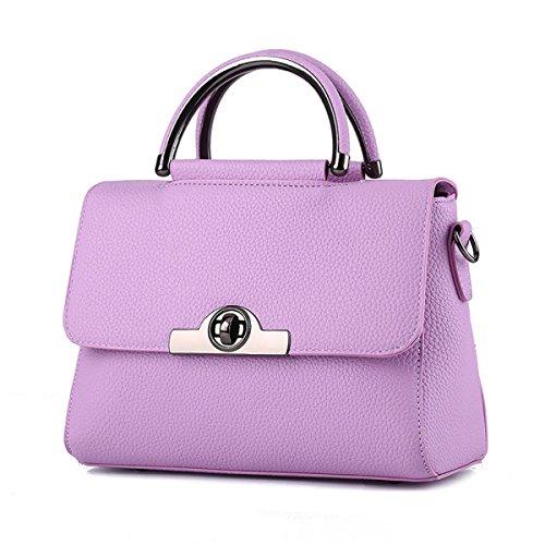 QPALZM Frauen PU-Leder Schultertasche Schicke Tasche Damen Handtaschen 38 8 Unzen (OZ) A3