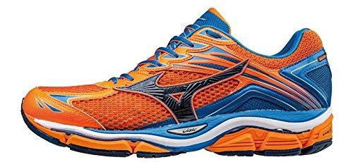 Mizuno Wave Enigma, chaussures de course homme Clownfish/DressBlues/DirectoireBlue