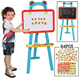 RIANZ 3 In 1 Educational Magnetic White Chalk Board Learning Easel For Kids