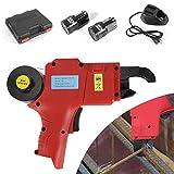 oukaning tragbar Automatische 60,1Binden Maschine wiederaufladbar leichteste Stahl Bar Rod Binden Binding Werkzeug Vine Etagen (Draht: 8–34MM), rot