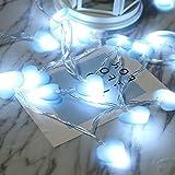 Catena Luminosa,NNIUK Luci Stringa 20LED 9.8ft A forma di cuore Luce Della Stringa, Decorazione romantica DIY Fata Luce per la camera da letto delle ragazze,Festa, Matrimonio,Giardino, Natale.