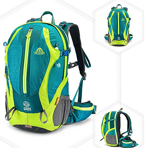 Sport all'aperto la borsa, zaino impermeabile moda 35L , dark green Dark Green