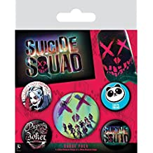 Official Merchandise Suicide Squad Face Badge Pack