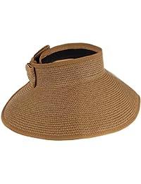 Butterme visière Chapeau Plage Pare-soleil chapeau Pliable Retroussez large Brim chapeaux de paille