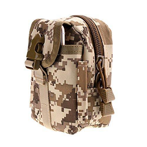 ruifu Outdoor Tactical Taschen MOLLE EDC Tasche Kompakt Outdoor Mehrzweck-Utility Gadget Werkzeug Gürtel Taille Tasche Digital Desert