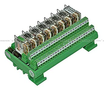 Shavison Relay Module AS395-24V-S-OE, 2C/O, 8 Channel, 24VDC Coil, OEN Relay, Reverse Blocking Diode, Socket Mounted Relay, Contact Rating : 28VDC/230VAC, 5A