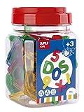 APLI Kids - Letras y números transparentes 36 uds.