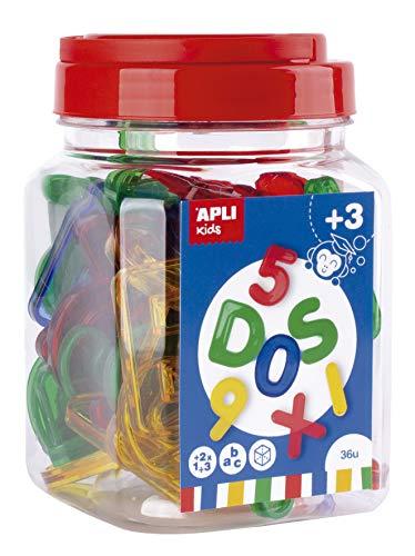 APLI Kids - Letras números transparentes 36 uds