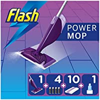 Flash Powermop Starter Kit, All-in-One Floor Spray Mop for Any Type of Floor