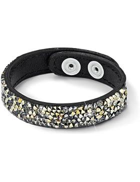 s.Oliver Jewels Damen-Armband Leder Messing