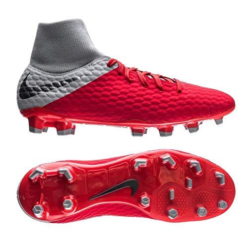 Nike Unisex-Erwachsene Hypervenom 3 Academy Df Fg Fitnessschuhe Mehrfarbig (Lt Crimson/MTLC Dark Wolf Grey 600), 42 EU