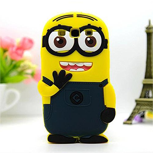 Double Eye Cute Despicable Me Minion Silicone Back Cover For Samsung Galaxy Mega 5.8 I 9150  available at amazon for Rs.499